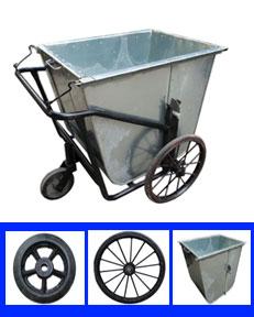 xe gom rác và phụ kiện xe gom rác
