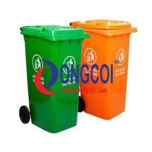 Thùng Rác Nhựa HDPE 120l Của Cơ Khí Đồng Côi