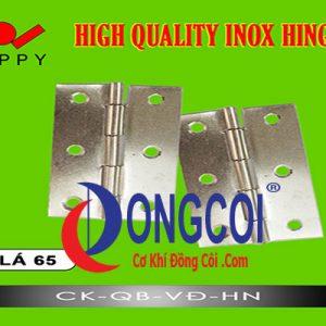 Bản Lề Lá Inox Lá 65 Hiệu Zappy được phân phối giá rẻ tại Cơ Khí Đồng Côi